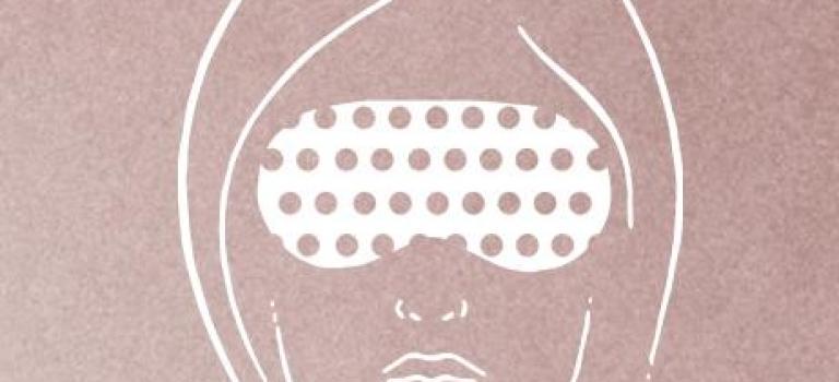 Kašmírová hřejivá maska na oči